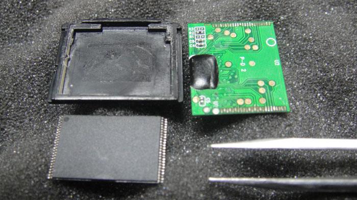 Извлечение микросхемы NAND памяти с карты памяти Olympus xD