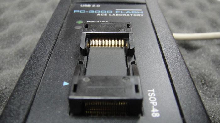 Считывание данных с микросхемы памяти с помощью PC3000-FLASH
